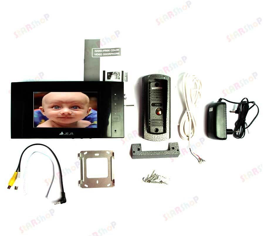В наличии за 35190 тг. Цветной видеодомофон JEJA S706E ...: https://starshop.kz/collection/domofony-dvernye-glazki-zvonki/product/tsvetnoy-videodomofon-jeja-s706eo