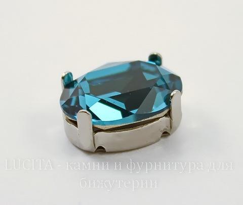 4120/S Сеттинг - основа для страза 14х10 мм (цвет - античное серебро)