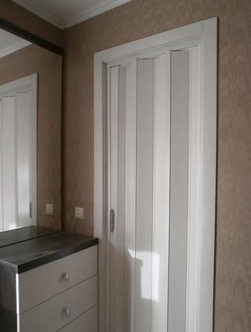 Раздвижная дверь гармошка фото