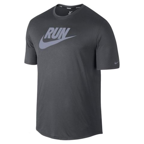 Футболка Nike Legend Run Swoosh Tee чёрная