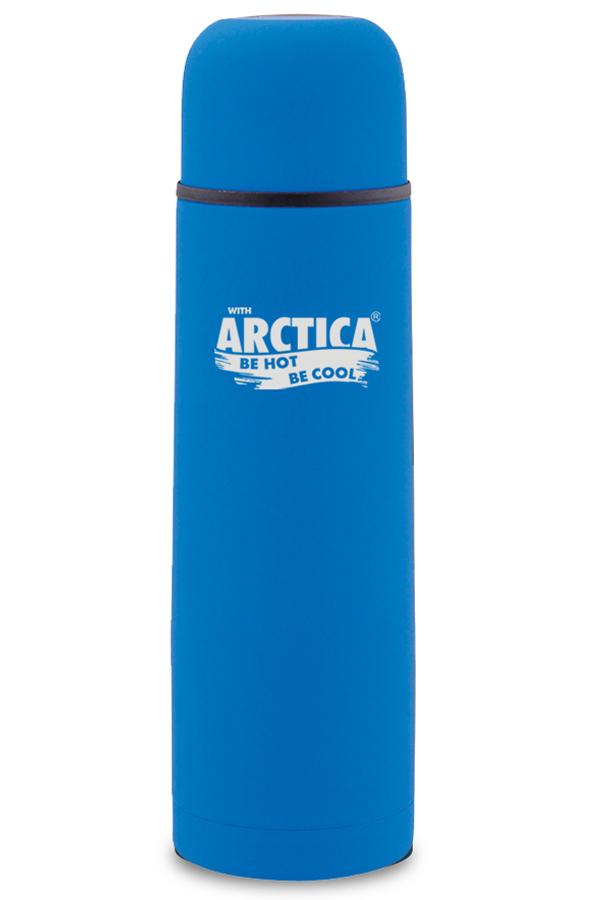 Термос Арктика (0,75 л.) с узким горлом классический, синий, резиновое покрытие