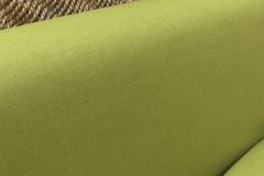 Льняная интерьерная ткань цвет САЛАТОВЫЙ
