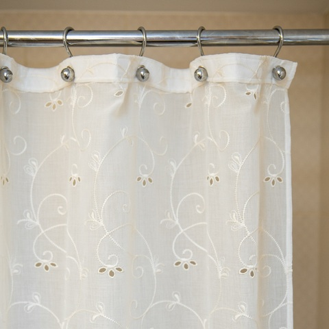 Элитная шторка для ванной 240х200 Embroidery 2803 от Arti-Deco