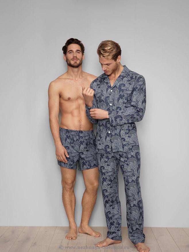 Мужская пижама с орнаментом Zimmerli (Домашние костюмы и пижамы)