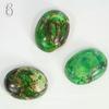 Кабошон Яшма Императорская зеленая (прессов., тониров) (№6 (18х14 мм))