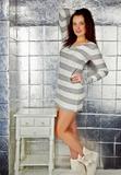 Короткое платье для дома Blue Lemon