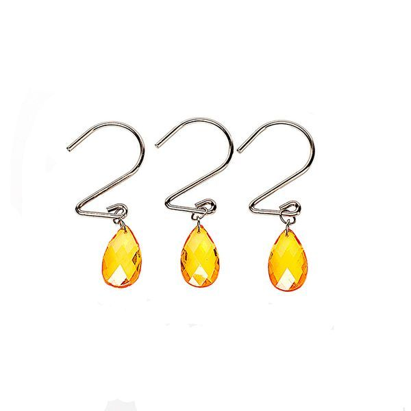 Набор из 12 крючков для шторки Prism Gold от Carnation Home Fashions