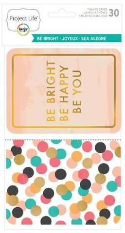 "Набор карточек ""Be bright"" для Project life 30 шт"