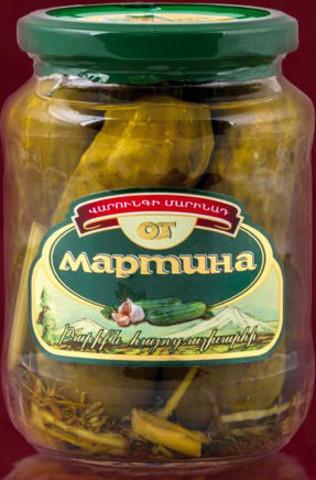 Огурцы маринованные Мартин, 680г
