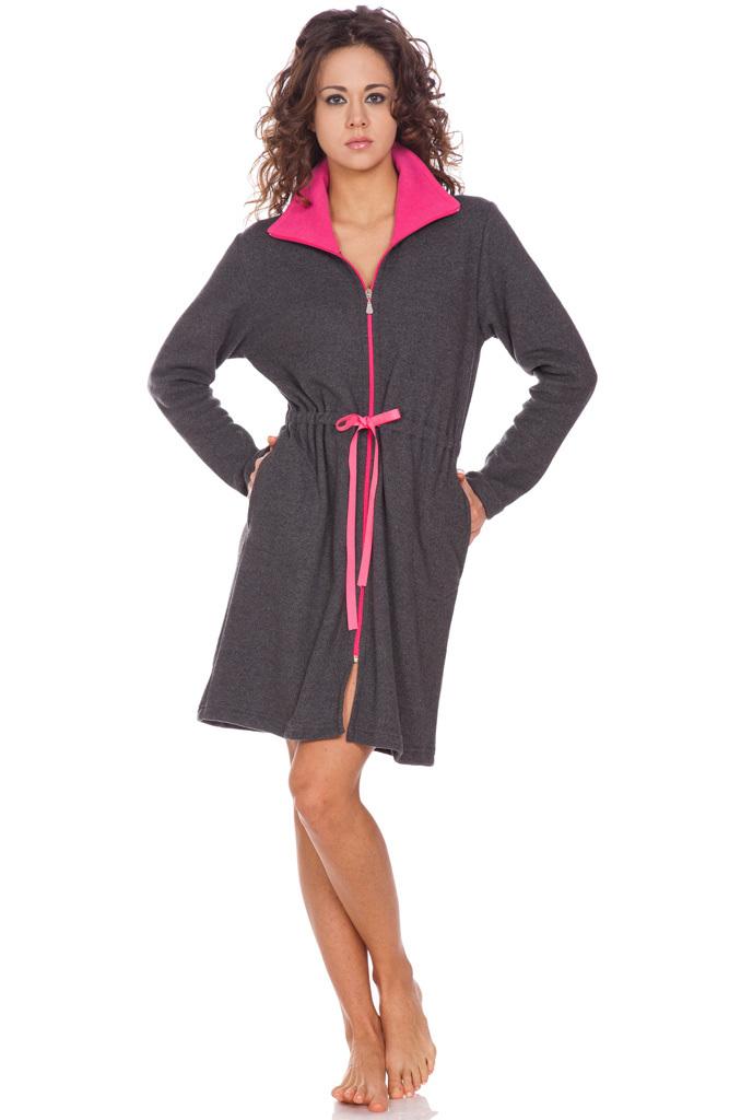 Короткий халат на молнии DolceVita (Женские халаты)