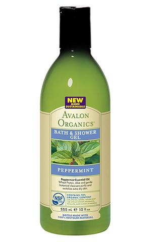 Гель для ванны и душа с маслом мяты, Avalon Organics