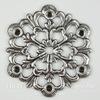 Винтажный декоративный элемент - филигрань 29 мм (оксид серебра)