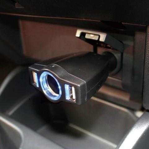 Разветвитель + 3 USB (7.2A) YAC PZ-679