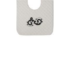 Элитный коврик для унитаза Ricciolo белый с серой аппликацией от Old Florence