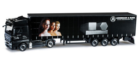 Herpa 906876 Грузовой автомобиль MAN TGX XXL curtain canvas semitrailer