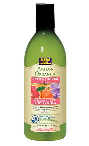 Гель для ванны и душа с маслом грейпфрута и герани, Avalon Organics
