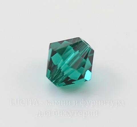5328 Бусина - биконус Сваровски Emerald 6 мм, 5 штук