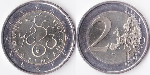 "Финляндия 2 евро 2013 ""150 лет Сейму 1863"""