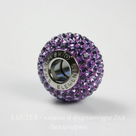 80101 Бусина Сваровски BeCharmed Pave Tanzanite 14х9 мм ()