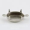 Сеттинг - основа - коннектор (1-1) для страза 14х10 мм (оксид серебра)
