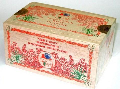 Чай с алоэ, розой и жасмином