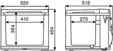 Компрессорный автохолодильник WAECO CoolFun CK-40D (40л)