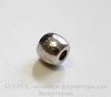 Бусина металлическая гладкая (цвет - античное серебро) 6х5 мм, 10 штук