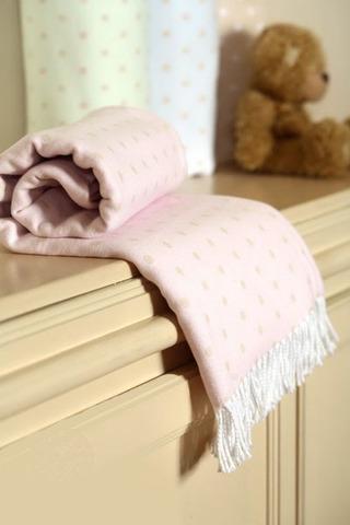 Элитный плед детский Lux 10375 розовый от Luxberry