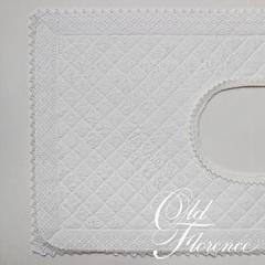 Элитный коврик для унитаза Rombetti белый от Old Florence