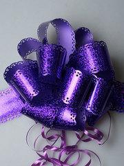 Бант-шар голограф. (фиолетовый) 30x110 малый