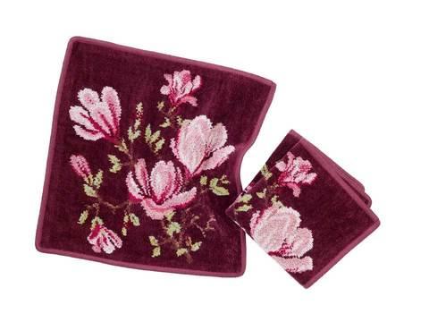 Элитная салфетка шенилловая Magnolia 114 weinrot от Feiler