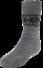 Термоноски утепленные с шерстью мериноса Norveg Soft Merino Wool Grey-Black детские