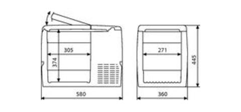 Компрессорный автохолодильник WAECO CoolFreeze CF-32UP (31л)