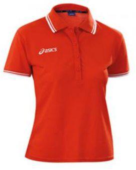 Женское поло Asics POLO KATY (T731Z8 0026)  красное