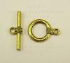 Замок - тоггл из 2х частей (цвет - античное золото) 15 мм
