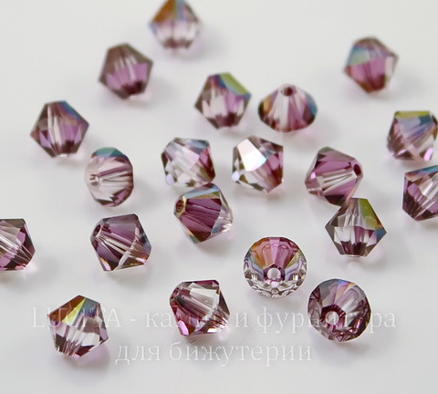 5328 Бусина - биконус Сваровски Crystal Lilac Shadow 6 мм, 5 штук