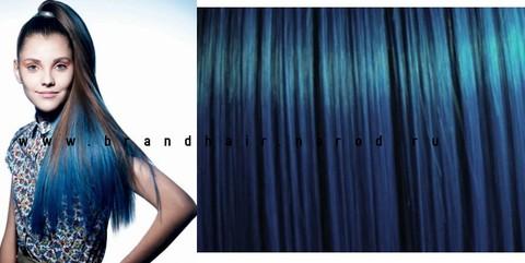 Цветная прядь,оттенок синий