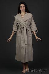 Элитный халат хлопковый Meyzer Tassels дымчатый от Hamam
