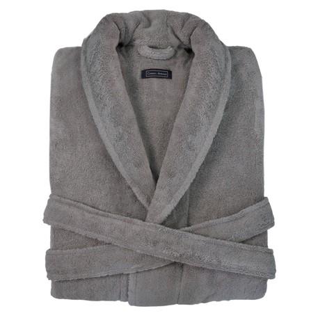 Элитный халат махровый Chicago серо-коричневый от Casual Avenue