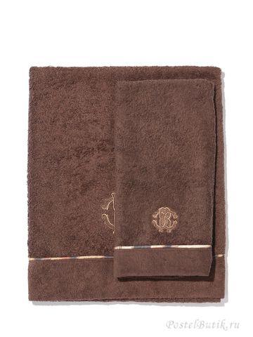 Набор полотенец 2 шт Roberto Cavalli Basic коричневый