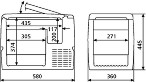 Компрессорный автохолодильник Dometic Waeco CoolFreeze CF-40 (37л)