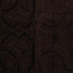Элитный халат-кимоно велюровый Logo коричневый от Roberto Cavalli