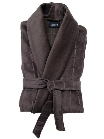 Элитный халат велюровый 1614 шоколадный от Joop! - Cawo