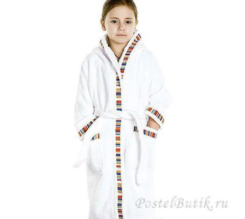 Элитный халат детский махровый Yupi белый от Caleffi