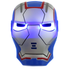 Маска Железного Человека синяя с подсветкой