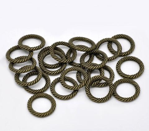 Колечко одинарное неразъемное (цвет - античная бронза) 13 мм ()