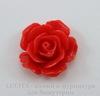 """Кабошон акриловый """"Роза"""", цвет - красный, 18 мм"""