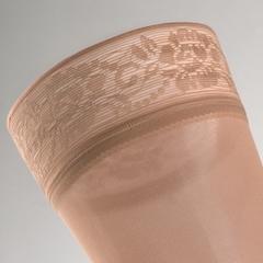 Чулки с кружевной силиконовой резинкой на широкое бедро mediven comfort