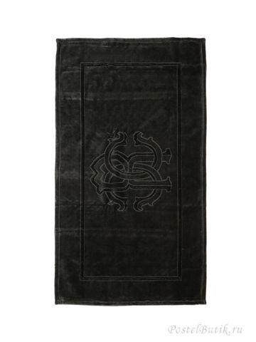 Элитный коврик для ванной Logo тёмно-серый от Roberto Cavalli