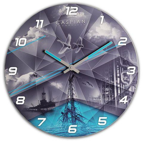 """Купить Настенные часы """"Каспий"""" 3D по доступной цене"""